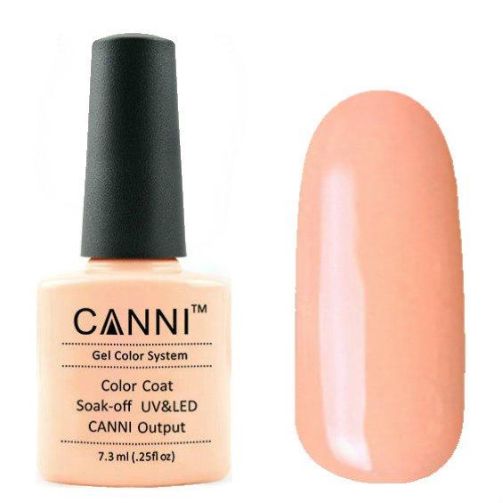 Canni, Гель-лак №62 (7.3 мл)Canni<br>Гель-лак бледный персиковый, без перламутра, плотный.<br>