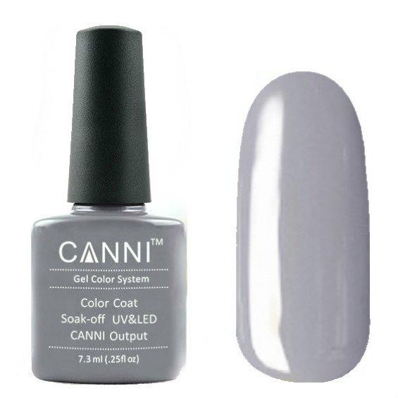 Canni, Гель-лак №75 (7.3 мл)Canni<br>Гель-лак светло-серый , без перламутра, плотный.<br>