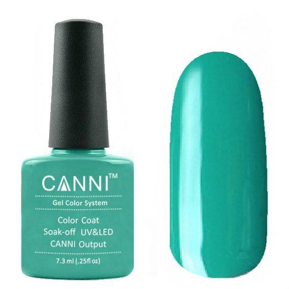 Canni, Гель-лак №76 (7.3 мл)Canni<br>Гель-лак бирюза , без перламутра, плотный.<br>