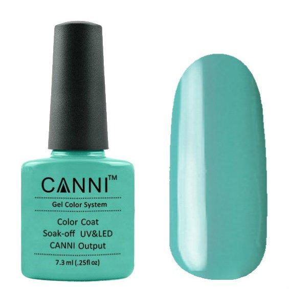 Canni, Гель-лак №77 (7.3 мл)Canni<br>Гель-лак светлая бирюза , без перламутра, плотный.<br>