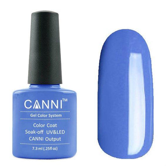 Canni, Гель-лак №79 (7.3 мл)Canni<br>Гель-лак небесно-синий , без перламутра, плотный.<br>