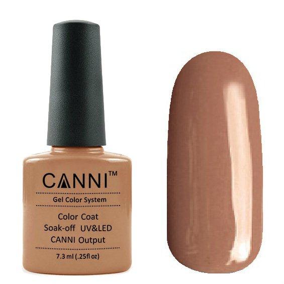 Canni, Гель-лак №95 (7.3 мл)Canni<br>Гель-лак мокко, без перламутра, плотный.<br>