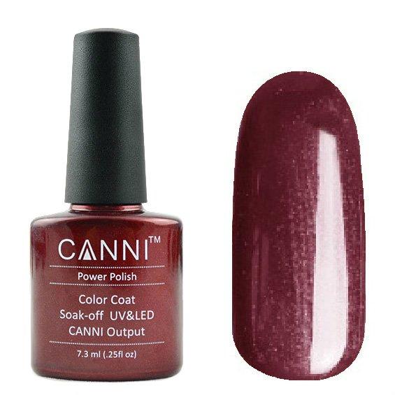 Canni, Гель-лак №123 (7.3 мл)Canni<br>Гель-лак шоколадный с перламутром, плотный.<br>