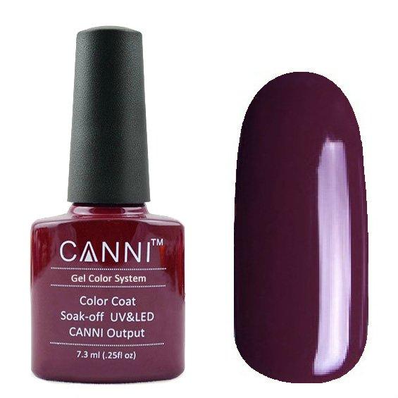 Canni, Гель-лак №124 (7.3 мл)Canni<br>Гель-лак коричнево-сливовый, без перламутра, плотный.<br>