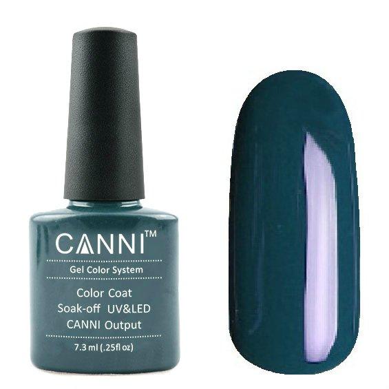 Canni, Гель-лак №126 (7.3 мл)Canni<br>Гель-лак тёмная бирюза, без перламутра, плотный<br>