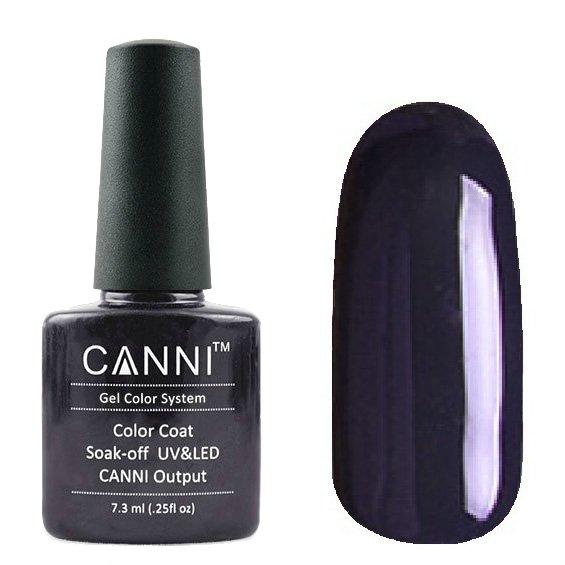 Canni, Гель-лак №130 (7.3 мл)Canni<br>Гель-лак тёмный серо-синий, плотный.<br>