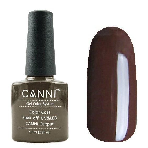 Canni, Гель-лак №152 (7.3 мл)Canni<br>Гель-лак тёпло-коричневый, плотный.<br>