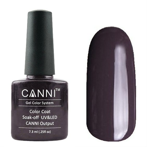 Canni, Гель-лак №155 (7.3 мл)Canni<br>Гель-лак нежная слива, плотный.<br>