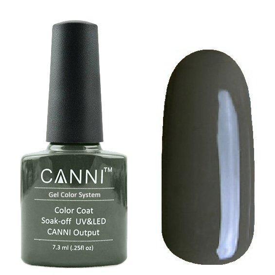 Canni, Гель-лак №156 (7.3 мл)Canni<br>Гель-лак чёрно-оливковый, плотный.<br>