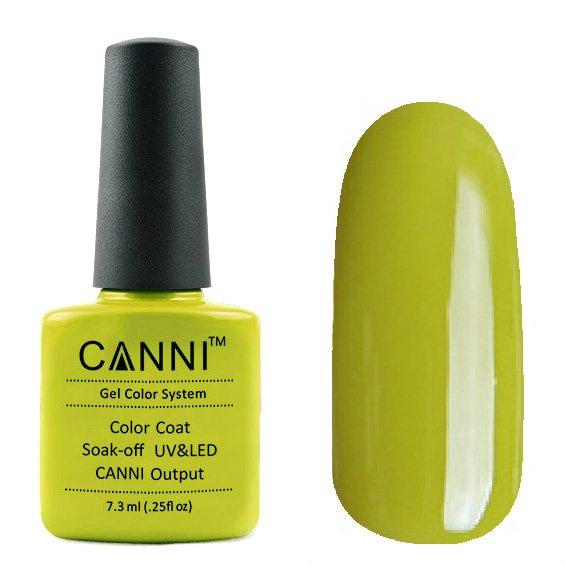 Canni, Гель-лак №167 (7.3 мл)Canni<br>Гель-лак оливковый, без перламутра, плотный.<br>