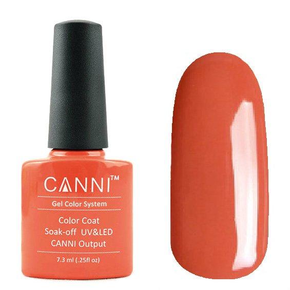 Canni, Гель-лак №168 (7.3 мл)Canni<br>Гель-лак умеренный красновато-оранжевый, без перламутра, плотный.<br>