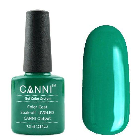 Canni, Гель-лак №174 (7.3 мл)Canni<br>Гель-лак яркий синевато-зелёный, без перламутра, плотный.<br>