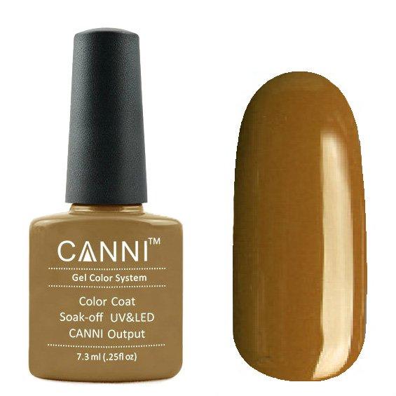 Canni, Гель-лак №178 (7.3 мл)Canni<br>Гель-лак коричневая бронза, без перламутра, плотный.<br>