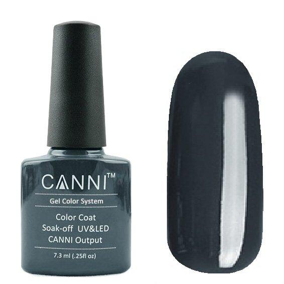 Canni, Гель-лак №180 (7.3 мл)Canni<br>Гель-лак полупрозрачный чёрно-серый, без перламутра.<br>