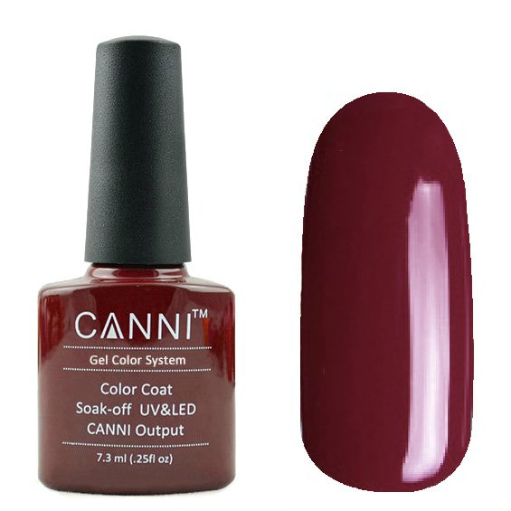 Canni, Гель-лак №181 (7.3 мл)Canni<br>Гель-лак пепельно-бордовый, без перламутра, плотный.<br>