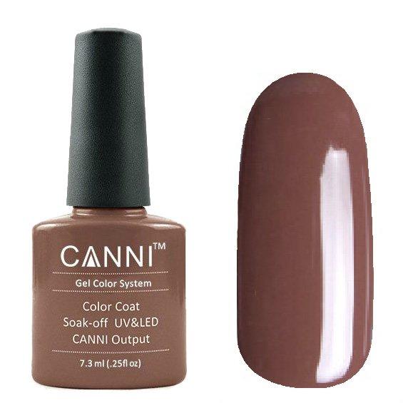 Canni, Гель-лак №182 (7.3 мл)Canni<br>Гель-лак шоколадный крем, без перламутра, плотный.<br>