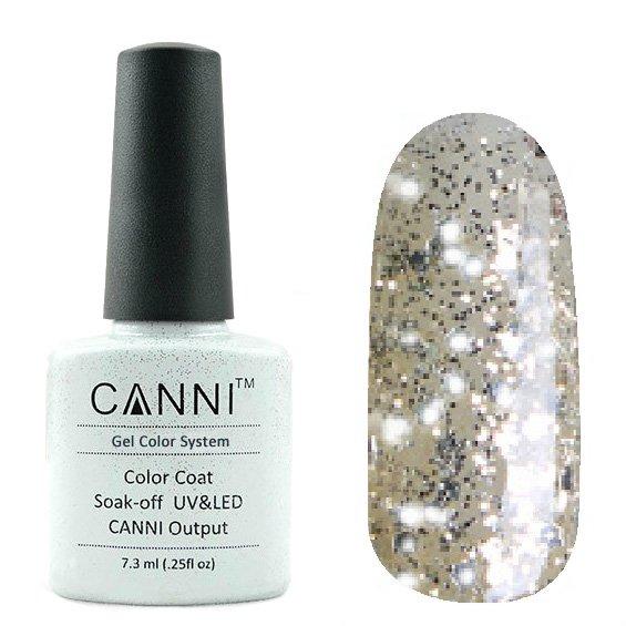 Canni, Гель-лак №183 (7.3 мл)Canni<br>Гель-лак прозрачная шампань с серебряным песком.<br>