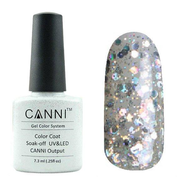 Canni, Гель-лак №186 (7.3 мл)Canni<br>Гель-лак прозрачный с голографическим глиттером.<br>