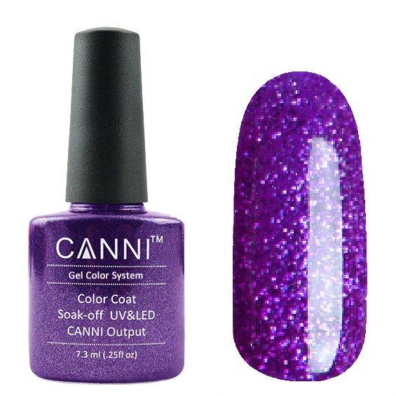 Canni, Гель-лак №189 (7.3 мл)Canni<br>Гель-лак полупрозрачный сиренево-фиолетовый с микроблеском.<br>