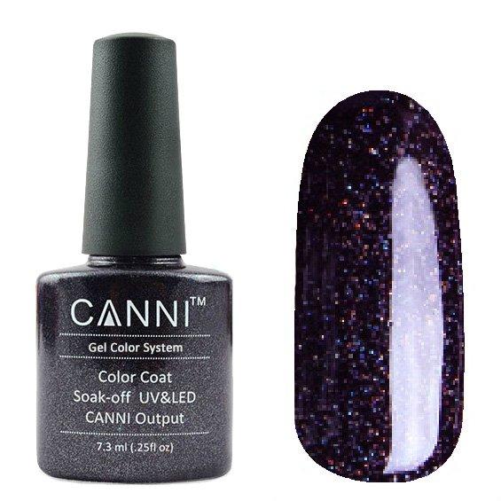 Canni, Гель-лак №190 (7.3 мл)Canni<br>Гель-лак темный сиреневыйс глиттером, плотный.<br>