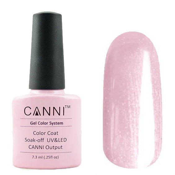 Canni, Гель-лак №200 (7.3 мл)Canni<br>Гель-лак нежно-розовый с перламутром, плотный.<br>