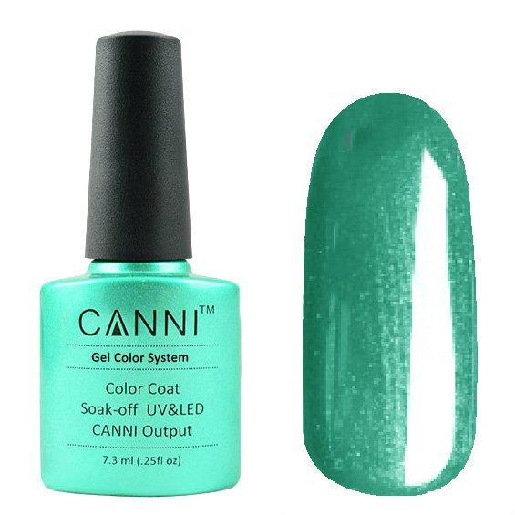 Canni, Гель-лак №204 (7.3 мл)Canni<br>Гель-лак морская волна с перламутром, плотный.<br>