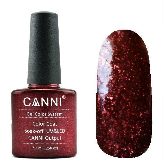 Canni, Гель-лак №209 (7.3 мл)Canni<br>Гель-лак винныйс блестками, плотный.<br>