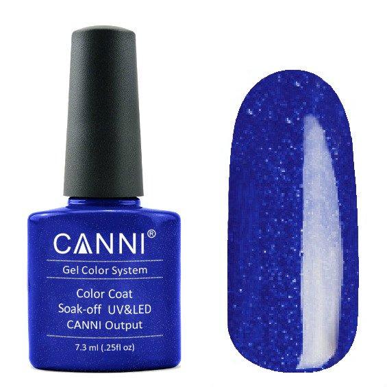 Canni, Гель-лак №214 (7.3 мл)Canni<br>Гель-лак синийс микроблеском, плотный.<br>