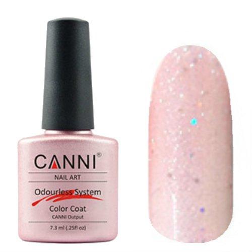 Canni, Odourless Gel Polish - Гель-лак №216 (7.3 мл)Canni<br>Гель-лак полупрозрачный розовый с блестками.<br>