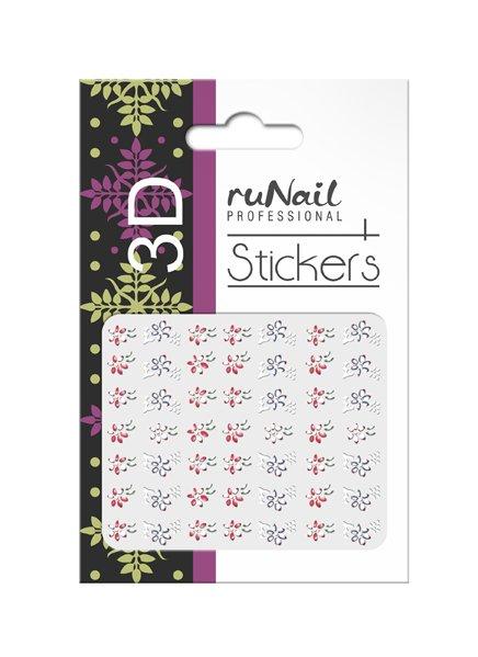 ruNail, 3D Наклейки для дизайна ногтей № 1680Наклейки для дизайна ногтей<br>Самоклеящиеся наклейки для дизайна ногтей. Цветы.<br>