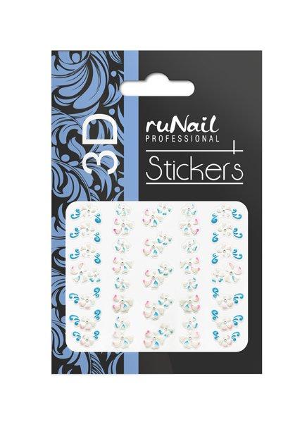 ruNail, 3D Наклейки для дизайна ногтей № 1683Наклейки для дизайна ногтей<br>Самоклеящиеся наклейки для дизайна ногтей. Цветы.<br>
