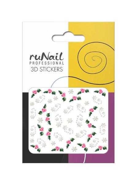 ruNail, 3D Наклейки для дизайна ногтей № 1684Наклейки для дизайна ногтей<br>Самоклеящиеся наклейки для дизайна ногтей. Звезды и шарики.<br>