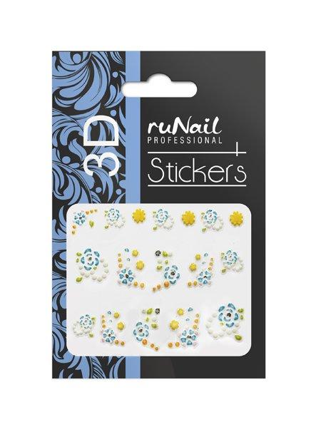 ruNail, 3D Наклейки для дизайна ногтей № 1696Наклейки для дизайна ногтей<br>Самоклеящиеся наклейки для дизайна ногтей. Цветы.<br>