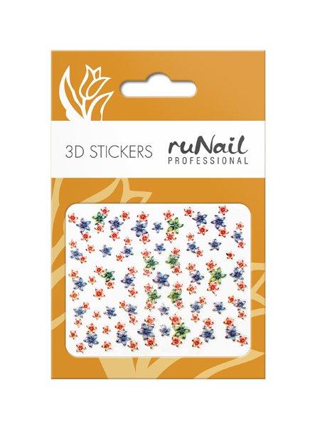 ruNail, 3D Наклейки для дизайна ногтей № 1700Наклейки для дизайна ногтей<br>Самоклеящиеся наклейки для дизайна ногтей. Цветы.<br>