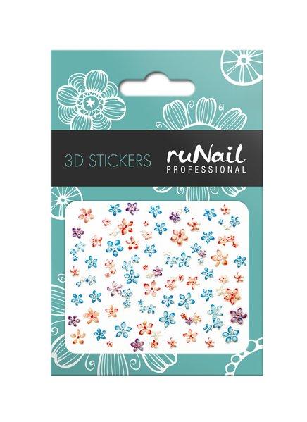 ruNail, 3D Наклейки для дизайна ногтей № 1701Наклейки для дизайна ногтей<br>Самоклеящиеся наклейки для дизайна ногтей. Цветы.<br>