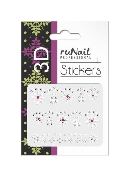 ruNail, 3D Наклейки для дизайна ногтей № 1703Наклейки для дизайна ногтей<br>Самоклеящиеся наклейки для дизайна ногтей. Узоры.<br>