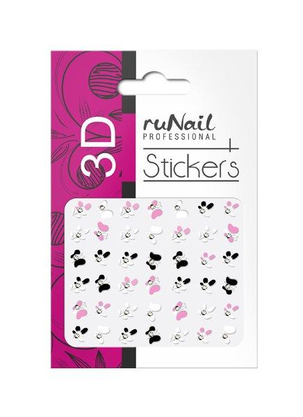 ruNail, 3D Наклейки для дизайна ногтей № 1708Наклейки для дизайна ногтей<br>Самоклеящиеся наклейки для дизайна ногтей. Цветы.<br>