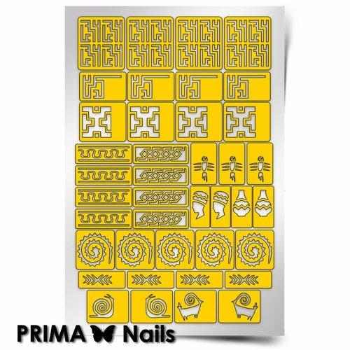 PrimaNails, Трафарет для дизайна ногтей - АфрикаPrimaNails<br>Самоклеющиеся трафареты<br>