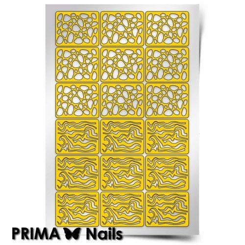 PrimaNails, Трафарет для дизайна ногтей - КамниPrimaNails<br>Самоклеющиеся трафареты<br>