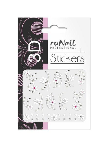 ruNail, 3D Наклейки для дизайна ногтей № 1714Наклейки для дизайна ногтей<br>Самоклеящиеся наклейки для дизайна ногтей. Цветы.<br>