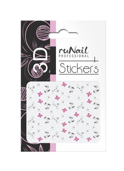 ruNail, 3D Наклейки для дизайна ногтей № 1717Наклейки для дизайна ногтей<br>Самоклеящиеся наклейки для дизайна ногтей. Цветы.<br>
