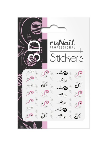 ruNail, 3D Наклейки для дизайна ногтей № 1724Наклейки для дизайна ногтей<br>Самоклеящиеся наклейки для дизайна ногтей. Узоры.<br>