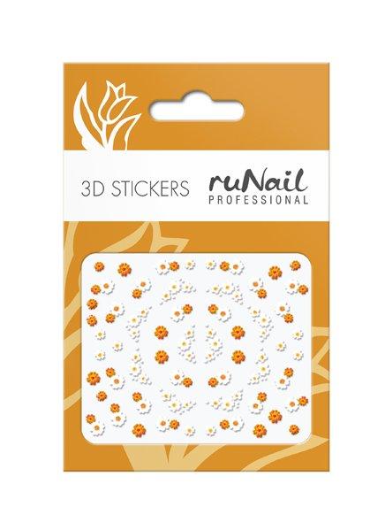 ruNail, 3D Наклейки для дизайна ногтей № 1726Наклейки для дизайна ногтей<br>Самоклеящиеся наклейки для дизайна ногтей. Цветы.<br>