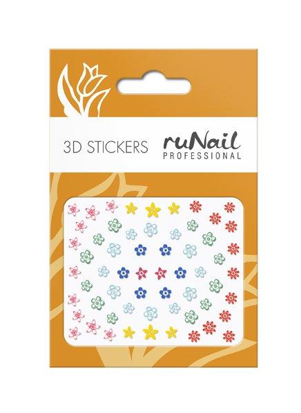 ruNail, 3D Наклейки для дизайна ногтей № 1729Наклейки для дизайна ногтей<br>Самоклеящиеся наклейки для дизайна ногтей. Цветы.<br>