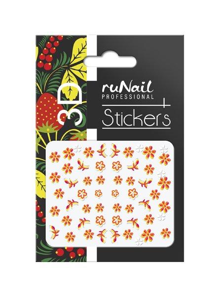 ruNail, 3D Наклейки для дизайна ногтей № 1730Наклейки для дизайна ногтей<br>Самоклеящиеся наклейки для дизайна ногтей. Цветы.<br>