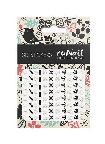 ruNail, 3D Наклейки для дизайна ногтей № 1741Наклейки для дизайна ногтей<br>Самоклеящиеся наклейки для дизайна ногтей. Знаки зодиака.<br>