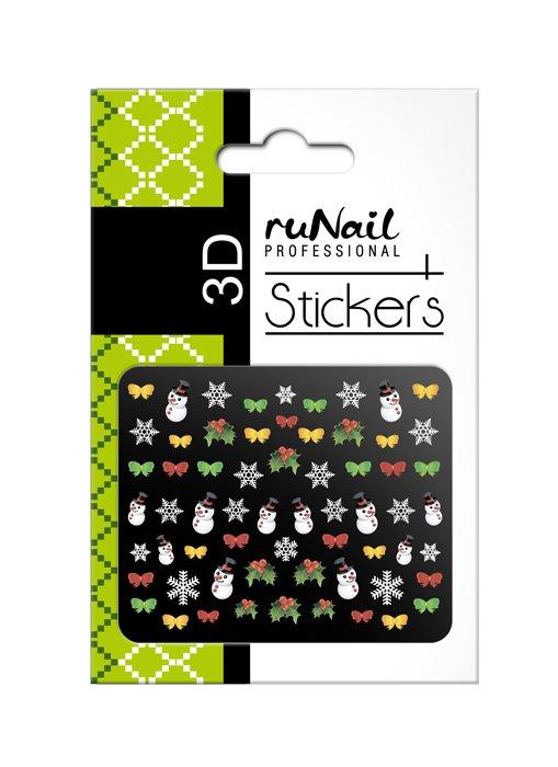 ruNail, 3D Наклейки для дизайна ногтей № 2051Наклейки для дизайна ногтей<br>Самоклеящиеся новогодние цветные наклейки для дизайна ногтей.<br>