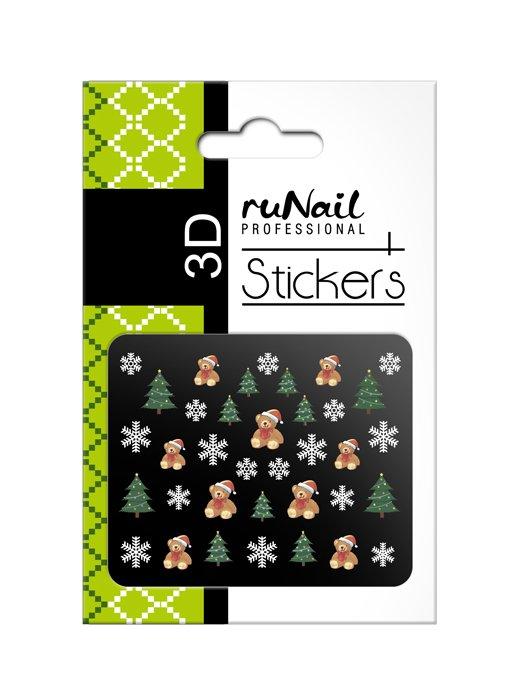 ruNail, 3D Наклейки для дизайна ногтей № 2053Наклейки для дизайна ногтей<br>Самоклеящиеся новогодние цветные наклейки для дизайна ногтей.<br>
