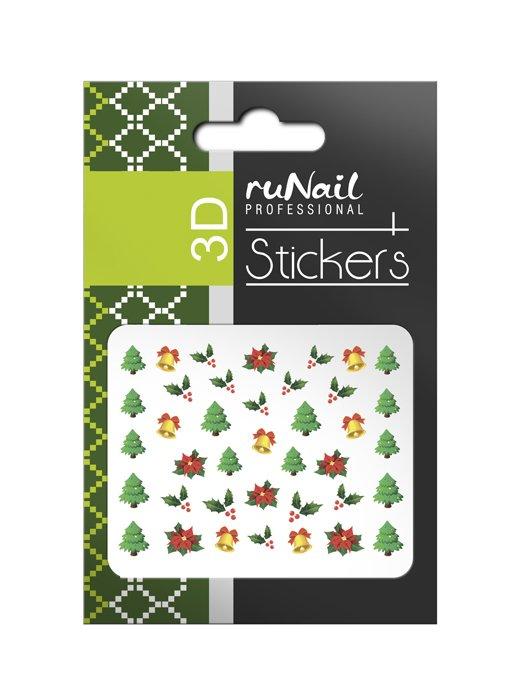 ruNail, 3D Наклейки для дизайна ногтей № 2054Наклейки для дизайна ногтей<br>Самоклеящиеся новогодние цветные наклейки для дизайна ногтей.<br>