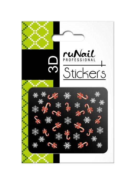 ruNail, 3D Наклейки для дизайна ногтей № 2057Наклейки для дизайна ногтей<br>Самоклеящиеся новогодние цветные наклейки для дизайна ногтей.<br>